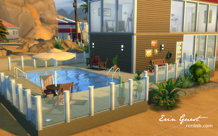 Renlish.com - The Sims4 - House Build - Desert Condo