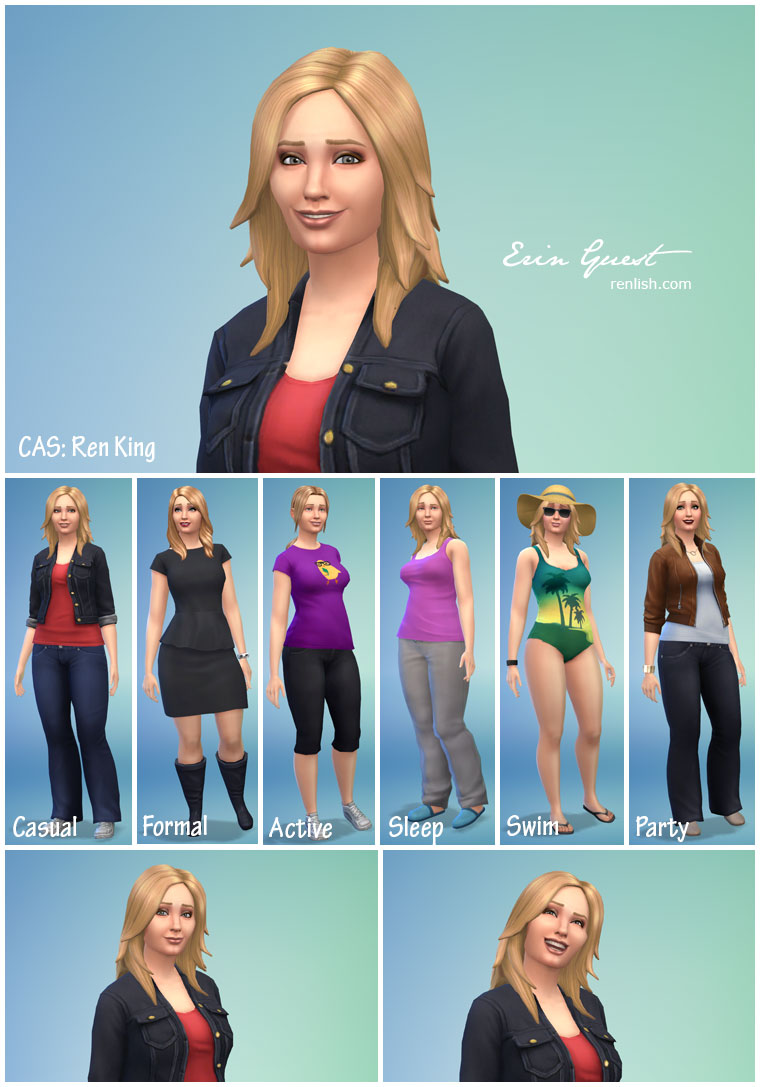 Renlish.com - The Sims 4 - Create a Sim - Ren