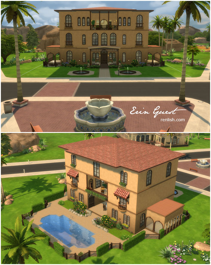 Renlish networkedblogs by ninua for Sims 4 piani di casa